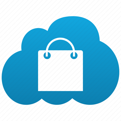 Buyer, bag, cloud, shop, lady bag, shopping, webshop, market, webstore, store, sales, buy, sale, ecommerce icon