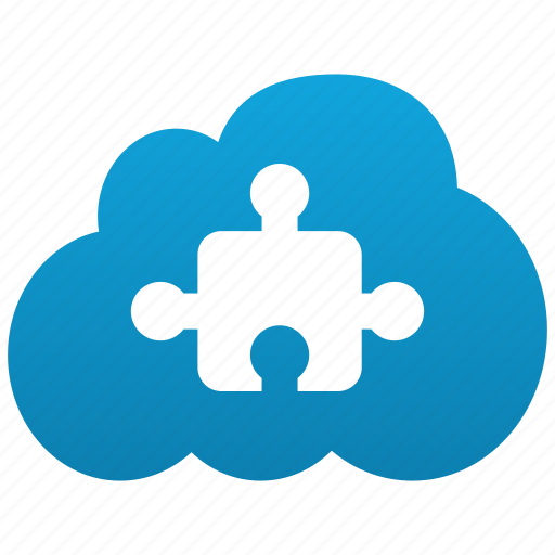 cloud, component, element, object, part, plug, plug in, plug-in, plugin, puzzle icon