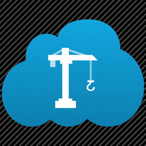 build, building, cloud, construction, progress, work icon