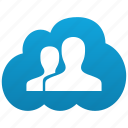 cloud, customers, friends, men, people, relations, relative, twain, two, users icon
