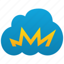 accident, boom, burn, catastrophe, cloud, crash, disaster, explosion, fail icon