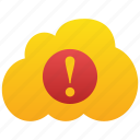 cloud, danger, problem, warning, alert, exclamation, attention, error, caution, alarm