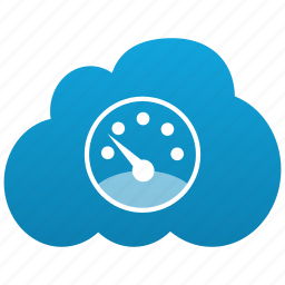 cloud, configuration, control, dashboard, fast, measure, preferences, settings, speed, system, velocity icon