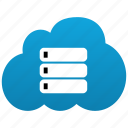 cloud, data, databank, database, db, dbase, disk, drive, server, storage icon