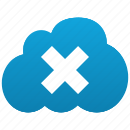 close, cloud, cross, delete, erase, minus, plaster, remove, trash, x-cross icon