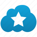 cloud, favorite, favorites, favourite, favourites, hit, star icon