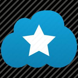 cloud, favorite, favorites, favourite, favourites, hit, star icon