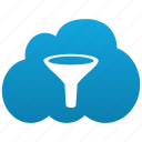 antispam, cloud, filter, funnel icon