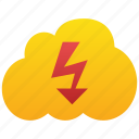 cloud, energy, forecast, lightning, power, spark, storm, thunder, thunderbolt, voltage icon