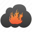 burn, cloud, destruction, fire, flame, hell, hot icon