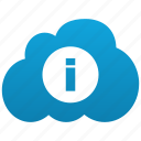 about, cloud, help, info, information, support icon