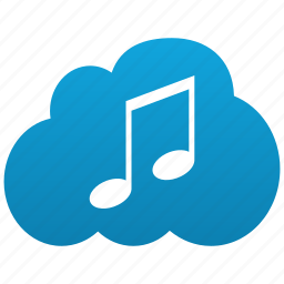 audio, cloud, compose, itunes, mp3, music, note, player, sound icon
