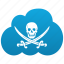 cloud, death, download, downloads, piracy, pirate, pirate bay, pirates, skull icon