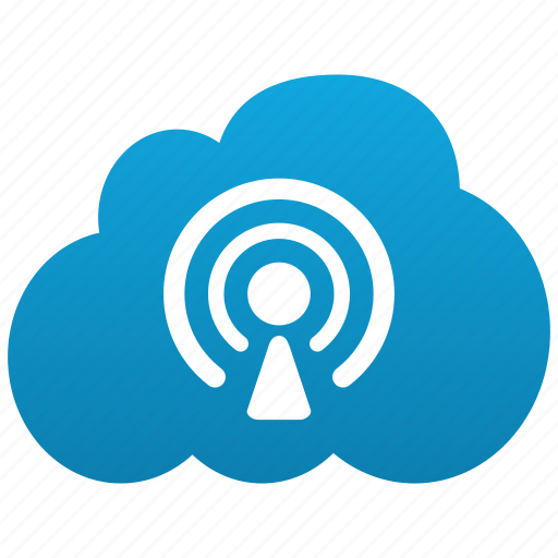 blog, center, cloud, feed, news, podcast, rss, source icon