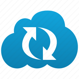cloud, refresh, reload, renew, replicate, replication, sync, update icon