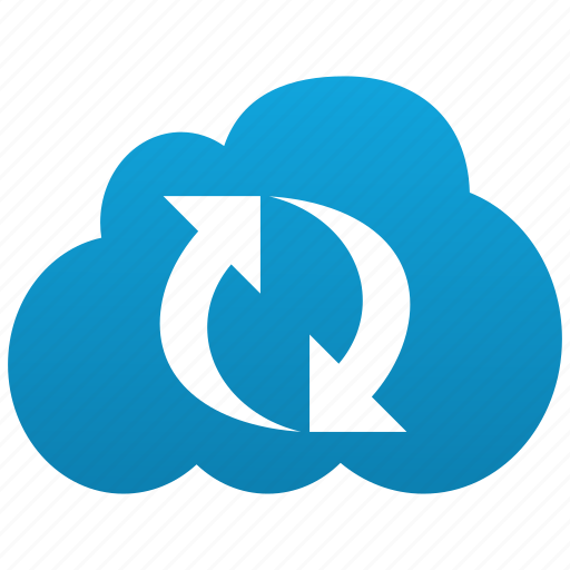 Cloud, refresh, reload, renew, sync, replication, replicate icon - Download