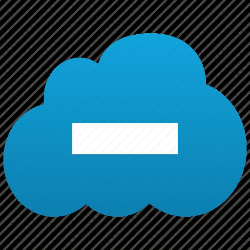 close, cloud, delete, erase, minus, remove, subtract icon