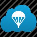 activities, adrenalin, adrenaline, jump, jumping, parachute, parachutism, skydiving, sport icon