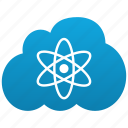 atom, atomic, cloud, electron, hitech, laboratory, labs, physics, radioactive, science icon