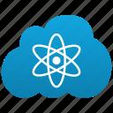atom, atomic, cloud, electron, hitech, laboratory, labs, physics, radioactive, science icon