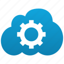 cloud, configure, desktop, gear, options, parameters, preferences, settings, setup, system icon