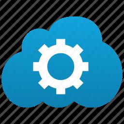 cloud, configure, desktop, gear, options, parameters, preferences, settings, setup, system icon