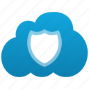 closed, cloud, insurance, protection, safe, secure, security, shield, warranty icon