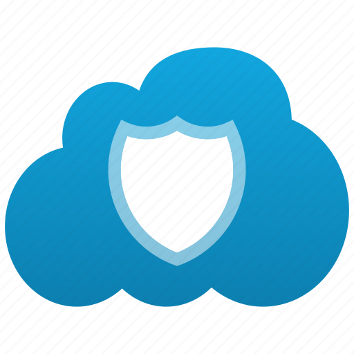 Shield, cloud, warranty, security, safe, insurance, closed, protection, secure icon