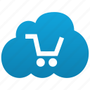 basket, buy, cart, cloud, ecommerce, shopping icon