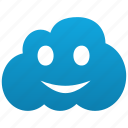 cloud, emoticon, emotion, face, fun, glad, happy, lucky, smile, smiley icon