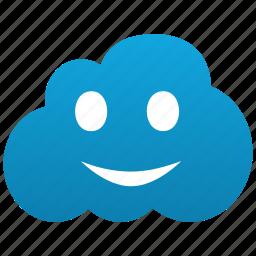 cloud, emoticon, emotion, face, fun, glad, happy, lucky, smile, smiley icon