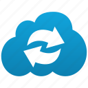 cloud, refresh, reload, renew, sync, update, weather icon