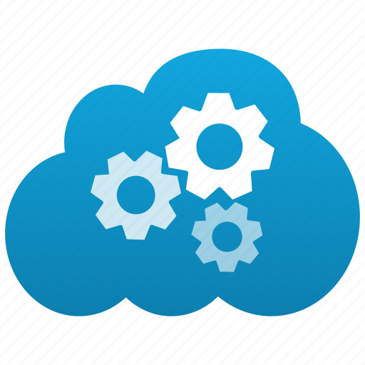 cloud, configuration, control, customize, gears, options, preferences, service, settings, system icon