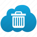 bin, can, cloud, delete, dust, empty, recycle, remove, trash icon