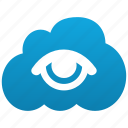 cloud, eye, find, search, see, show, view, visibility, watch, zoom icon