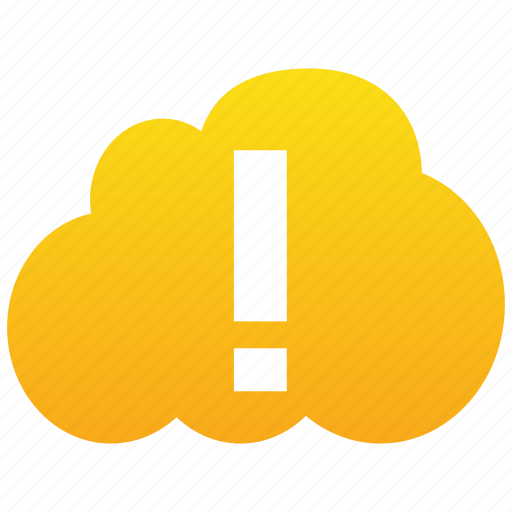 alarm, alert, attention, caution, cloud, danger, error, exclamation, problem, warning icon
