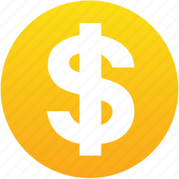 buy, cash, coin, dollar, earn, earnings, gold, golden, money, payment, price, salary icon