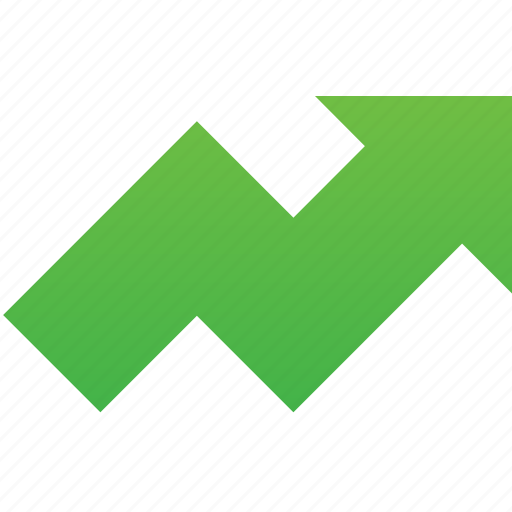 arrow, chart, charts, download, finance, grow, growth, income, investment, report, up icon