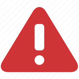 alert, attention, error, exclamation, message, problem, warning icon