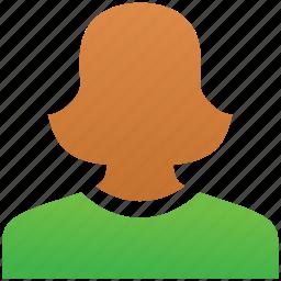 female, female profile, girl, lady, profile, user, woman icon
