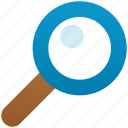 explore, find, glass, locate, magnifying glass, search, zoom icon