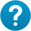 faq, help, mark, query, question, support, talk icon