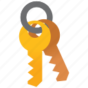 key, keys, password, safe, secure, security, unlock icon