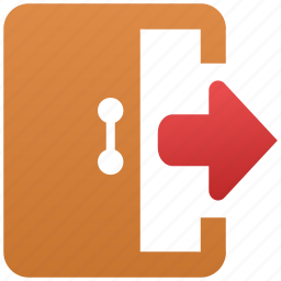 close account, door, exit, log out, logout, terminate icon