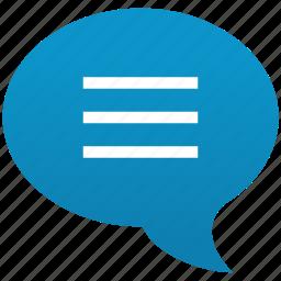 bubble, chat, comment, forum, message, talk, text icon