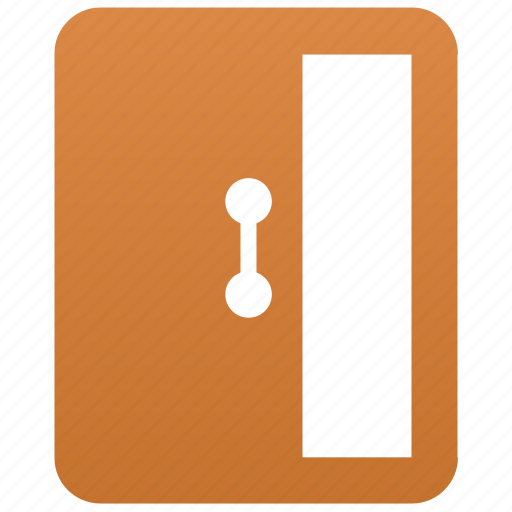 door, entrance, exit, log out, logout, open, open door icon