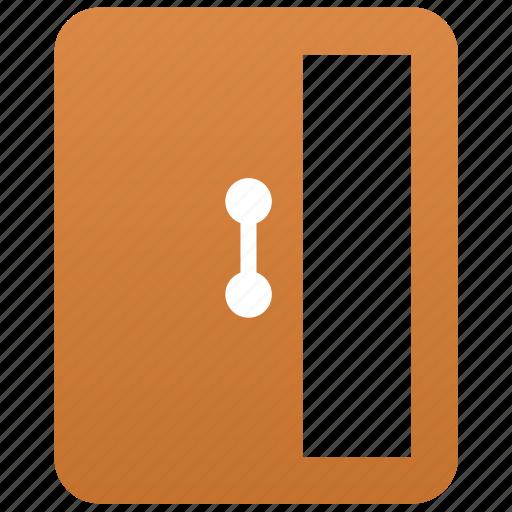 Open, door, open door, exit, log out, logout, entrance icon