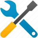 configuration, desktop options, screwdriver, settings, tool, tools, wrench icon