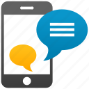 chat, messaging, mobile, sms, talk, text message, whatsapp icon