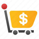 basket, cart, check out, checkout, order, shopping, total cost icon